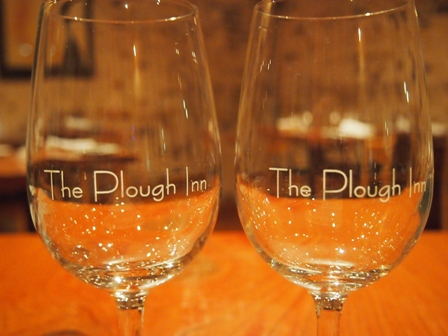 Plough Inn wineglasses