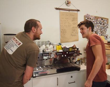 Snow Road Produce espresso team in action