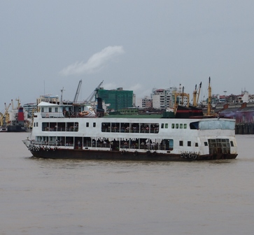 Yangon River ferry