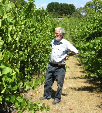 Roger Blake in vineyard