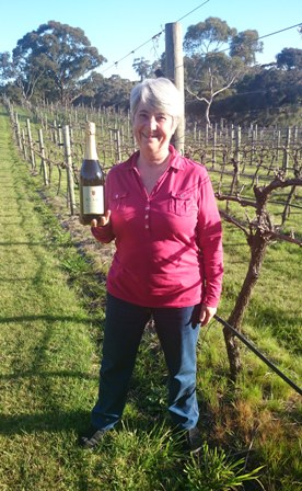 Rosie Blake in vineyard