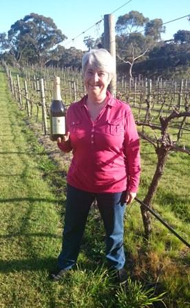 Rosie Blake in vineyard