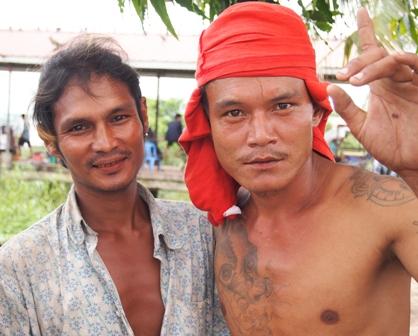 Yangon wharf workers
