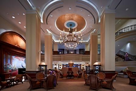 Sule Shangri-La Peacock Lounge lobby cafe