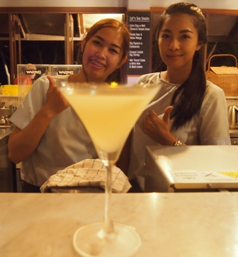 Let's Sea bartenders with a Tom Yum Martini