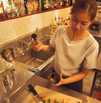 Tom Yum Martini making at Let's Sea
