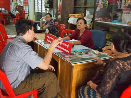 NLD campaign volunteers at work
