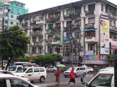 Not renovated yet? Old Yangon