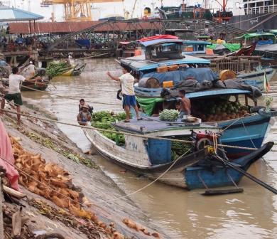 Yangon River scene