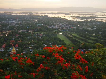View over Mandalay from atop Mandalay Hill