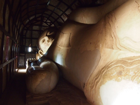 Reclining Buddha at Shwesandaw Stupa Pagan