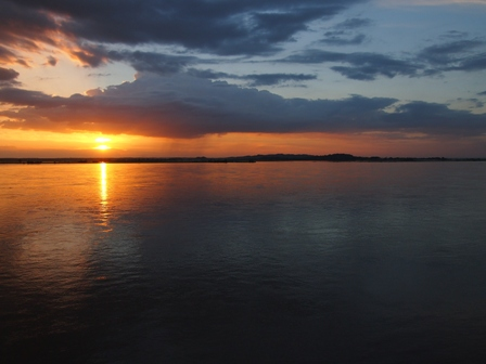 Irrawaddy sunset near Mandalay
