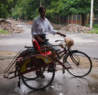 Trishaw driver Mandalay