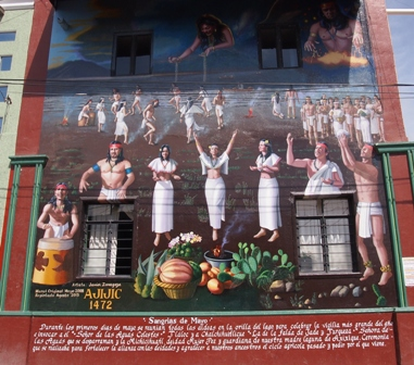 Sangria de Mayo historic mural
