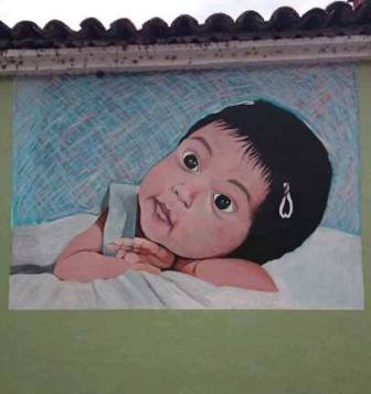 Baby face mural in Ajijic