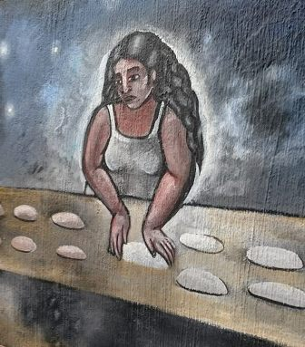 Bread making mural