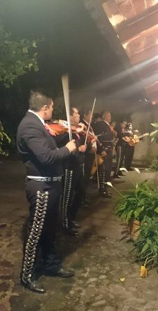 Cosala mariachi band playing near Ajijic