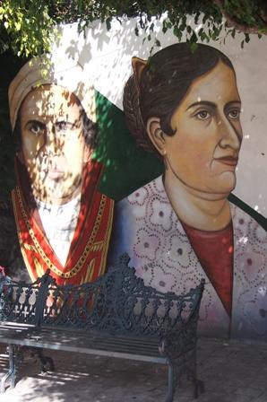 Revolutionary heroes mural
