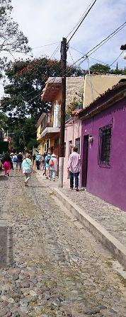 Ajijic street near Nueva Posada hotel