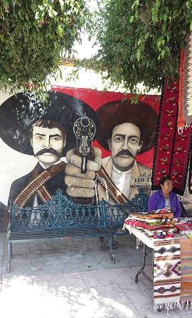 Pancho Villa mural in Ajijic