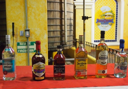 Don Jose Cuervo tequilas