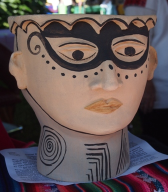 Ceramic head for sale at the Feria