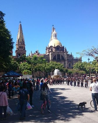 Guadalajara cathedral and square