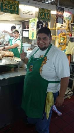 Guadalajara market torta (sandwich) stall