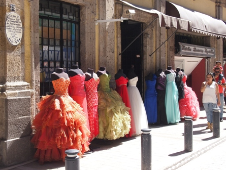 Dress shop display in Guadaljara