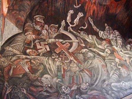 Orozco mural in Hospicio Cabanas