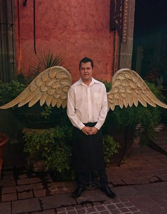 Tlaquepaque waiter with angel wings