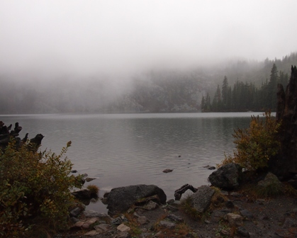 Castle Lake under mist