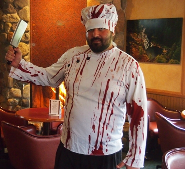 Mount Shasta Resort chef dressed for Halloween