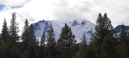 Lassen Peak under snow