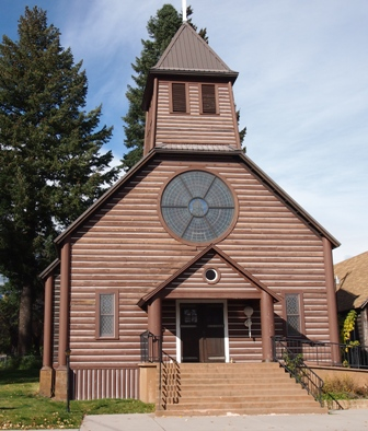 Log church at McCloud