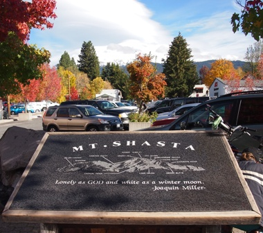 Mount Shasta and Mount Shasta plaque