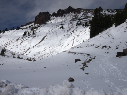 Tracks at the base of Lassen Peak (3,187 metres)