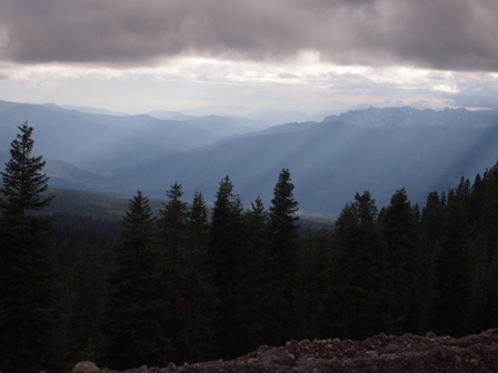 View south from near Mount Shasta summit