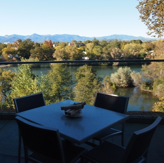 View 202 restaurant deck in Redding