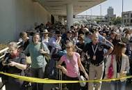 Security queues outside LAX-BC (Bedlam Central)