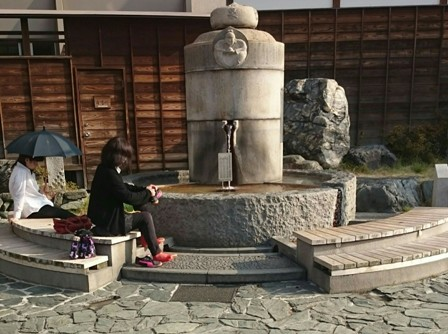 Public hot springs foot bath in Matsuyama