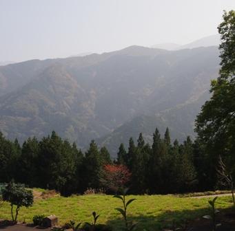 Mountain outlook from Old Samurai house