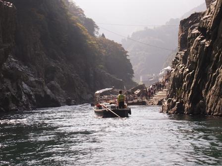 Oboke Gorge boat cruise