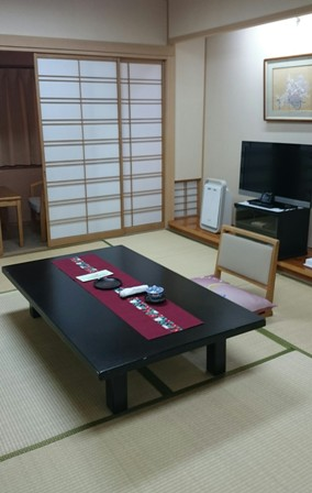 Tatami room at hotel
