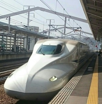 Shinkansen at station