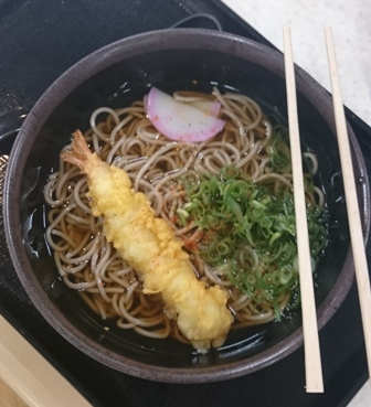 Tempura ramen at fuel station
