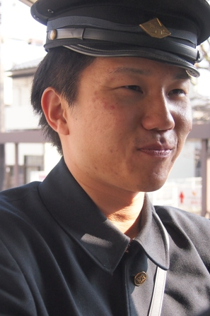 Train conductor on Botchan