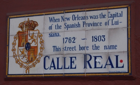 French Quarter street sign