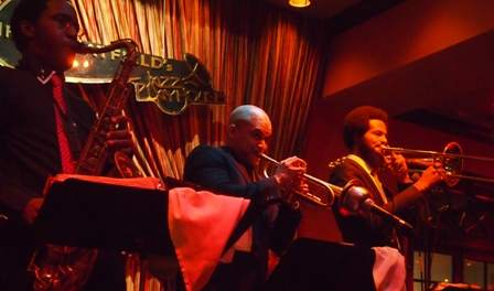 Irvin Mayfield playing trumpet