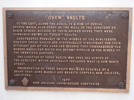 Oven Vaults sign